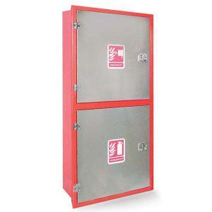 جعبه آتش نشانی دو طبقه بدنه استیل