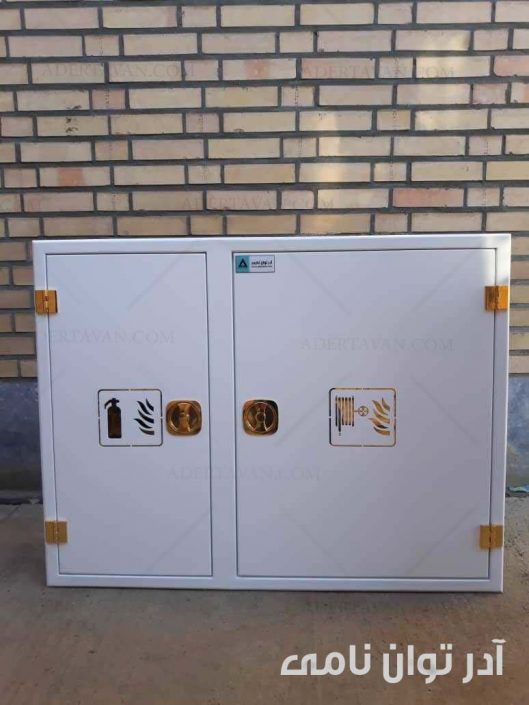 جعبه آتش نشانی دو قلو آهنی