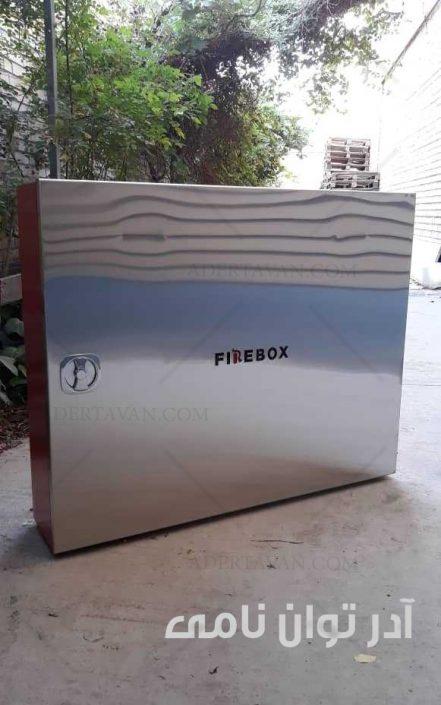 جعبه آتش نشانی استیل بدون فریم با لولا مخفی